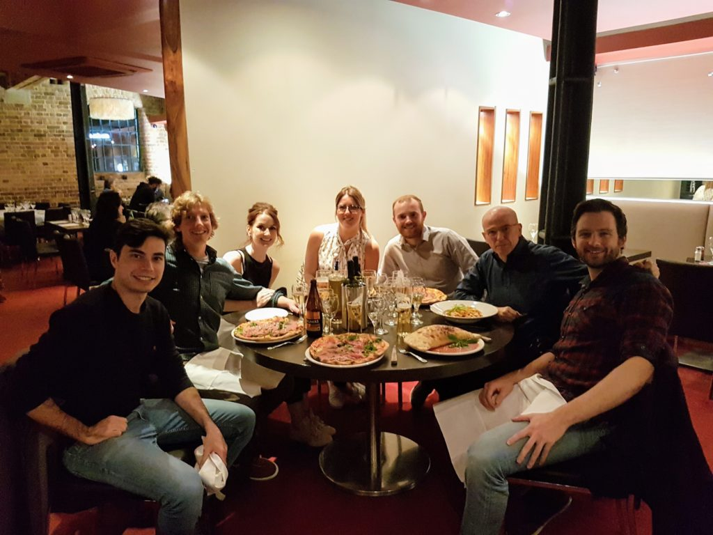 London Homebuilding and Renovating Show after dinner